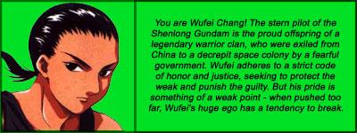I'm Wufei Chang!